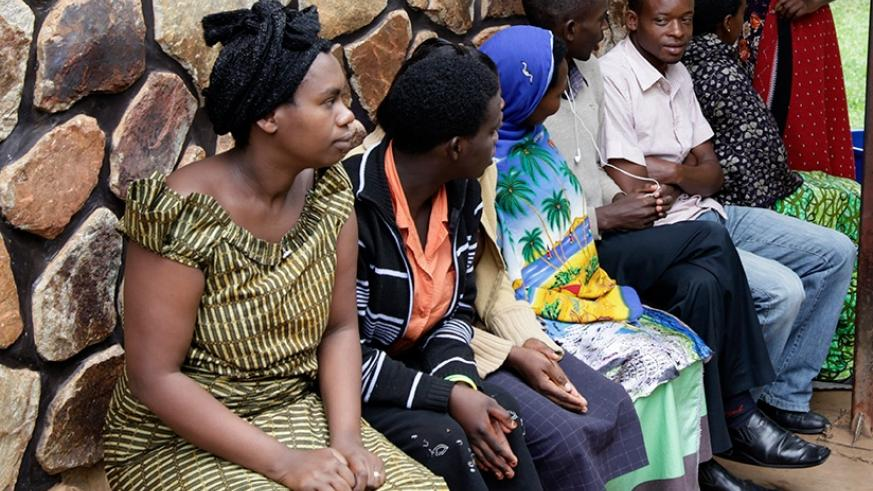 Patients wait for a doctor at CHK hospital in Kigali. File.