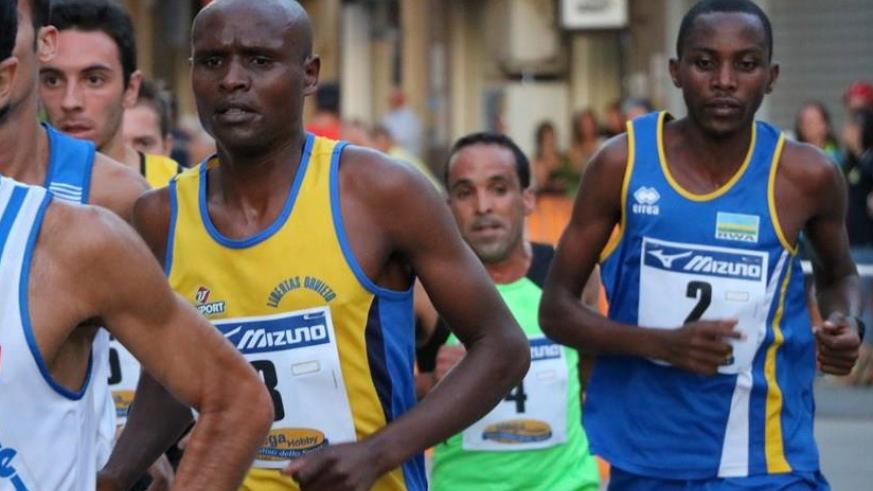 Felicien Muhitira, right, seen here in action in a past race in Italy, will be looking to put on an impressive performance.