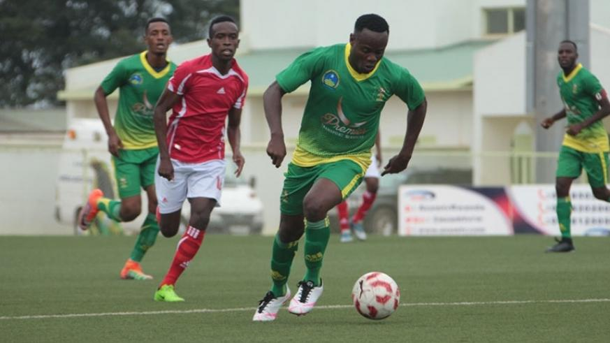 Striker Emmanuel Ngama scored the third goal for AS Kigali in the 4-3 victory against Musanze FC on Monday. (Courtesy)