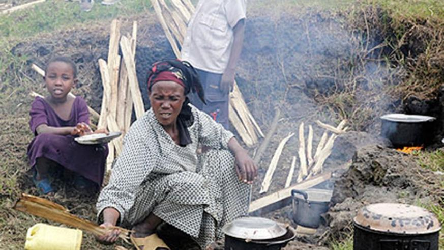 A Congolese woman prepares a meal. (File)
