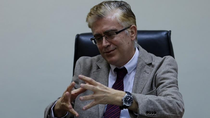 Dr Joaquin Bielsa, King Faisal Hospital chief executive officer, during the interview at his office.