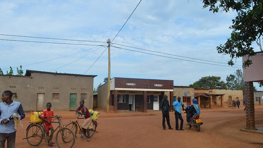 Residents in Nyamirambo trading center that recently got connected