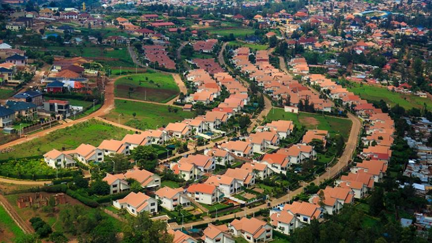 An aerial view of an estate in Kibagabaga in Kigali. (File)