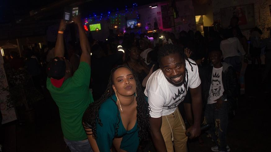 DJ Africano (in white T-shirt) was the DJ and show hype man. (Courtesy photos)