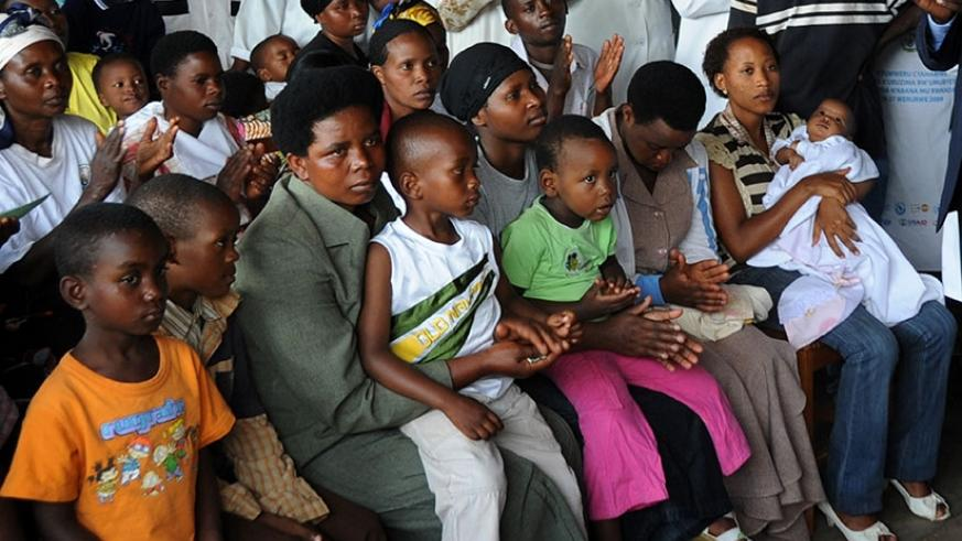Mothers and their children at Kicukiro Health Centre in Kigali. File.