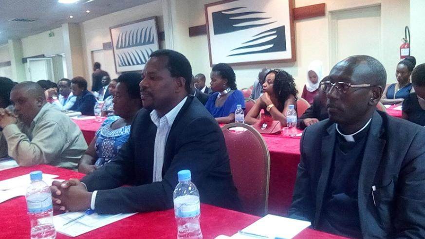 Participants during the meeting in Kigali. Michel Nkurunziza.