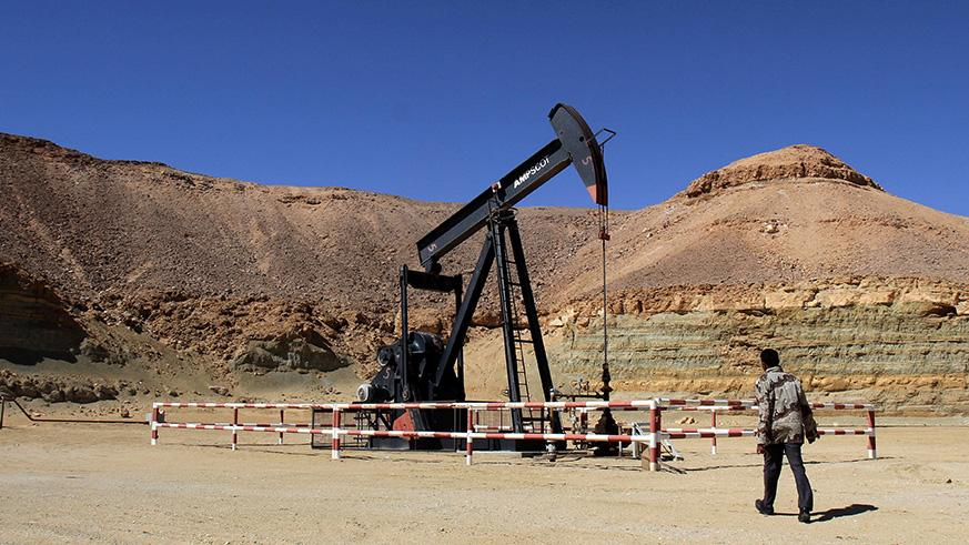 An oil field in Libya.