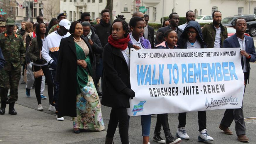 Rwandans in the United States during a Walk to Remember. Courtesy