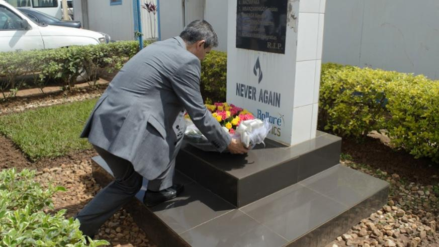 Bollore staff pays tribute to victims of the 1994 Genocide