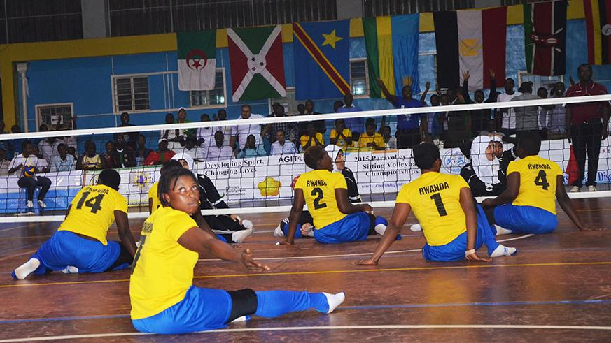 The national women's sitting volleyball team qualified after beating Egypt at Petit Stade Amahoro last year. / Sam Ngendahimana
