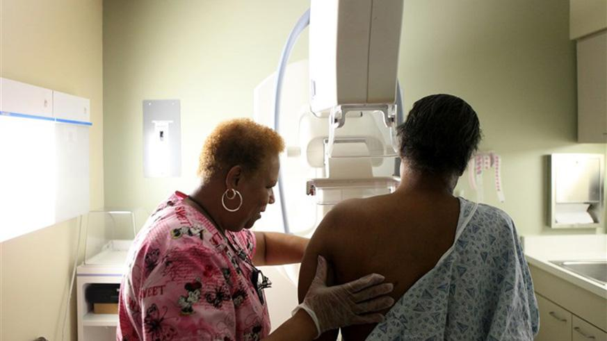 Women above the age of 40 are advised to have a mammogram such that if there is any abnormality it is detected early. /Net