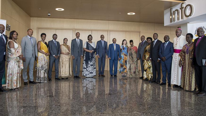 President Kagame and the First Lady yesterday attended the annual National Prayer Breakfast.