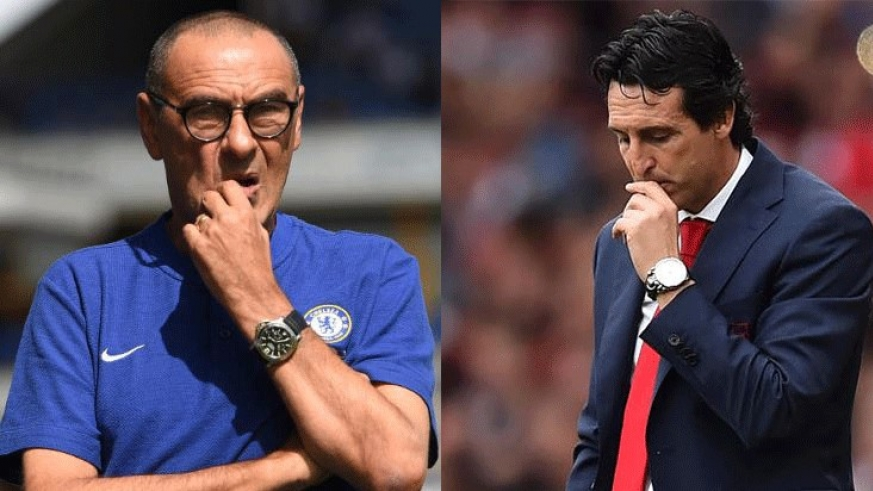 maurizio sarri eyes his first career title while unai emery is looking to win the Europa league for a fourth time