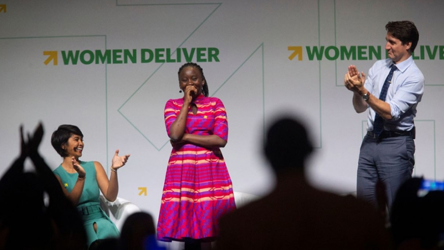 18-year-old Mwansa receives a standing ovation at Women Deliver