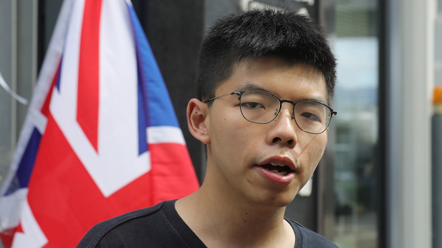 Hong Kong activist Joshua Wong arrested ahead of planned weekend protests