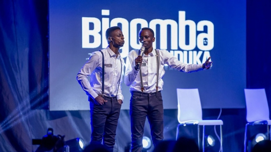 5k Etienne and Japhet performing during their show at Camp Kigali in October. /Craish Bahizi