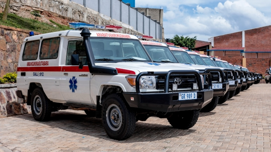 Imbuto foundation donated 20 ambulances to the health sector/courtesy