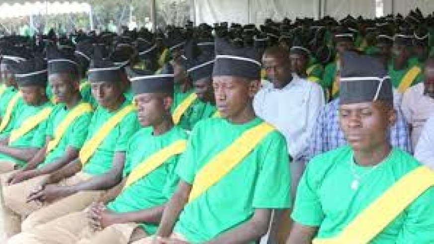 A cross-section of former trainees at Iwawa Rehabilitation and Vocational Training Centre during graduation. / Courtesy