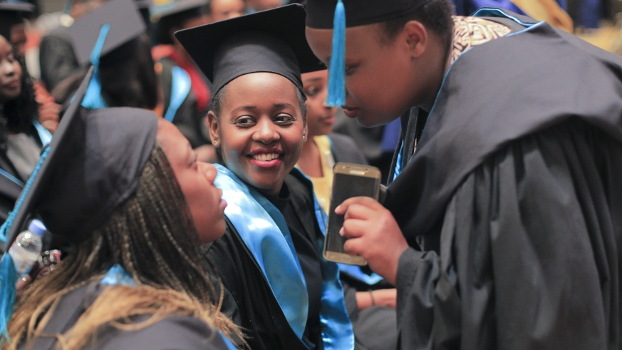 It was all smiles as more than 1800 graduated at University of Kigali last Friday. Courtesy.