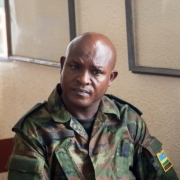 Maj. Mudaheranwa at Nyamirambo Military Tribunal during a preliminary hearing on charges of murder and illegal possession of a firearm. File photo.